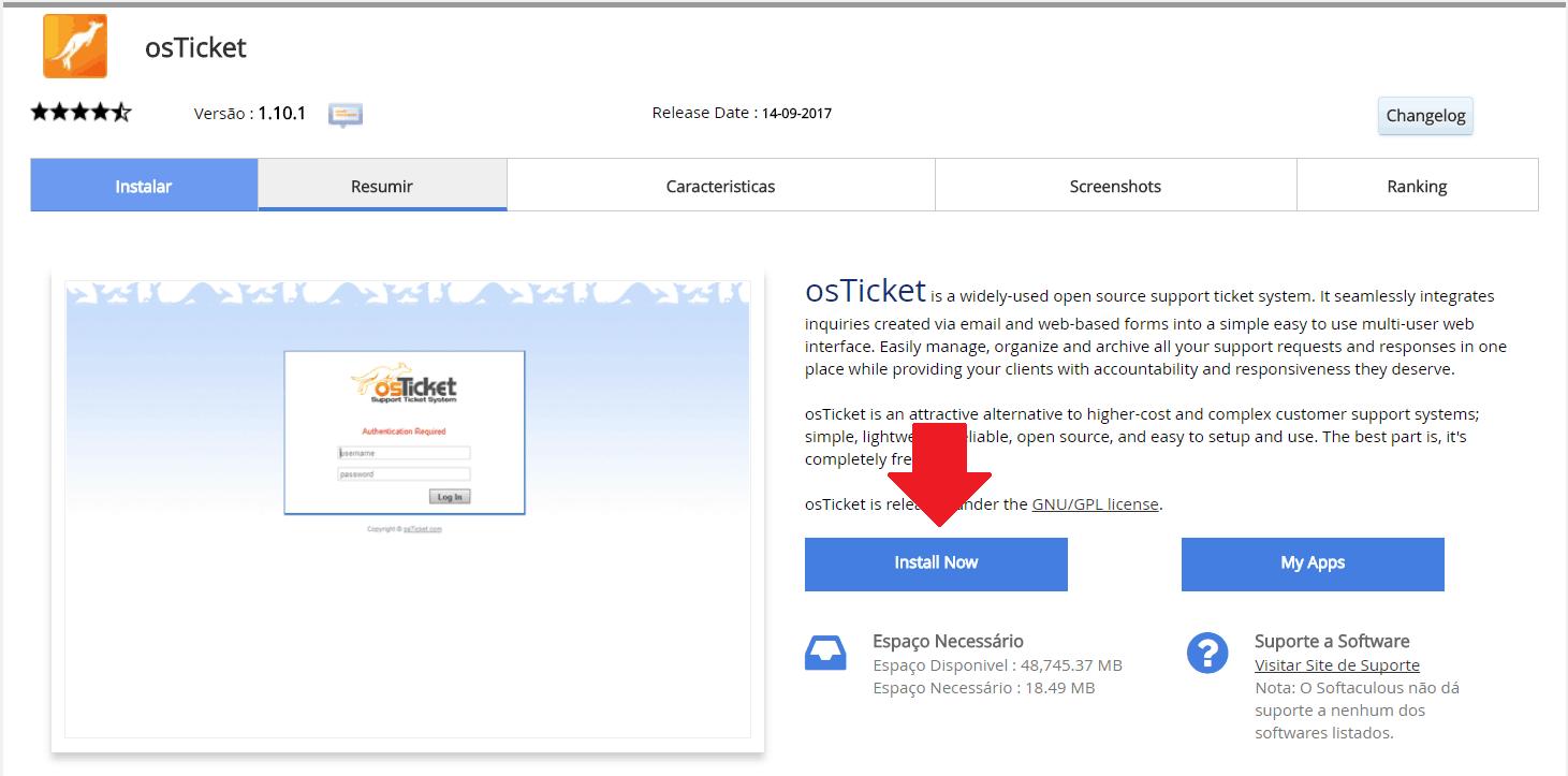 Instalador instalação como instalar osTicket