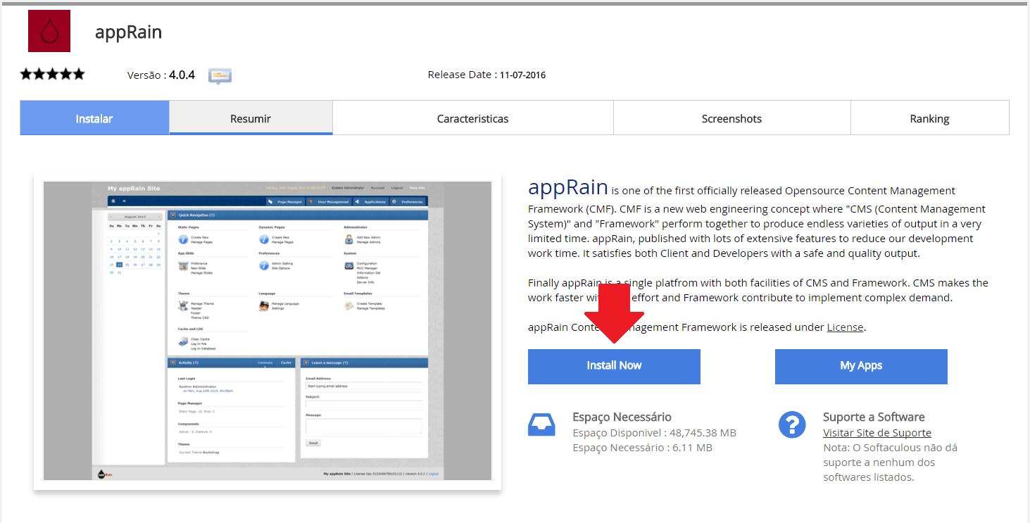 Instalador instalação como instalar appRain