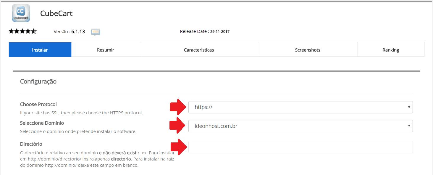 Instalador instalação como instalar CubeCart