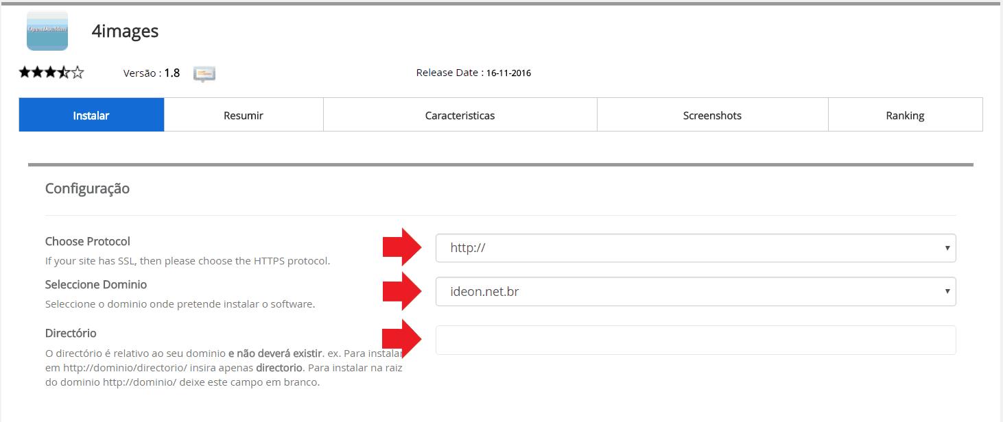 Instalador instalação como instalar 4images