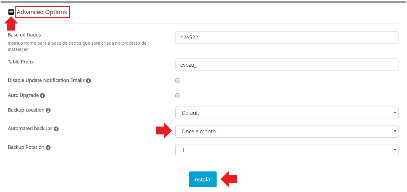 Instalador instalação como instalar b2evolution