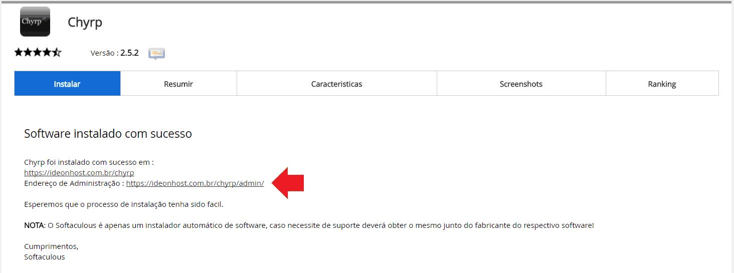 Instalador instalação como instalar Chyrp