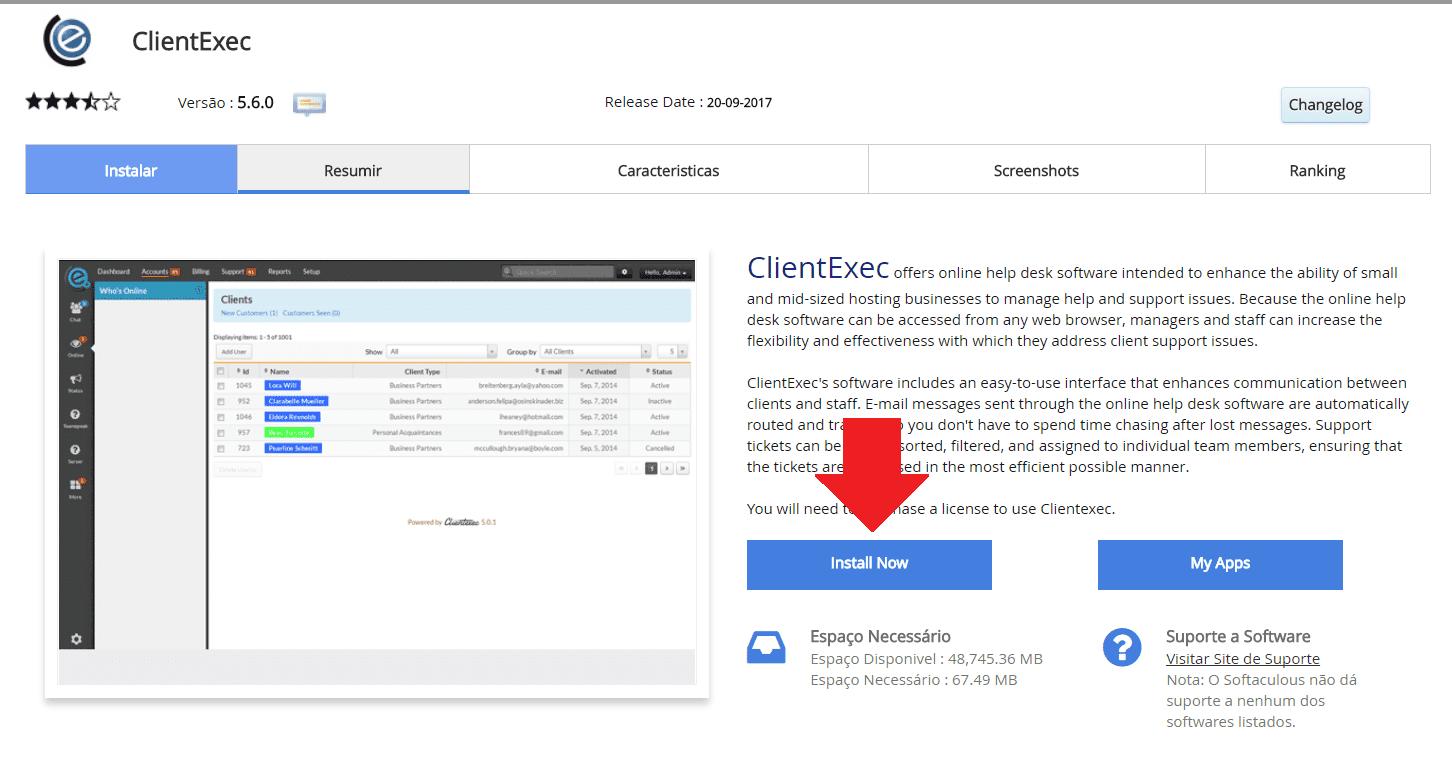 Instalador instalação como instalar ClientExec