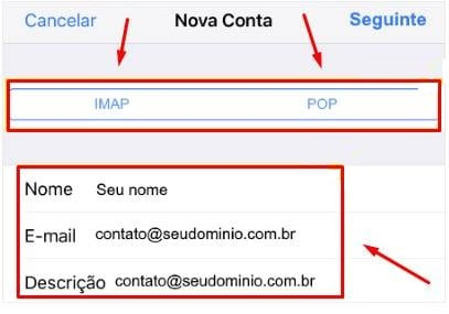 configurar e-mail no iphone