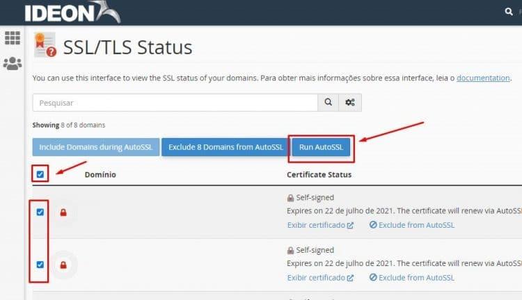 ativar SSL gratuito no cpanel