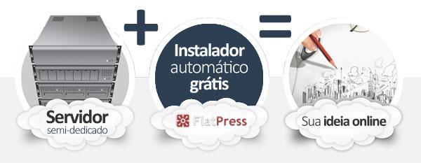 hospedagem FlatPress Blog