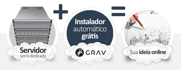 hospedagem GRAV CMS