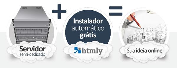hospedagem HTMLy Blog CMS
