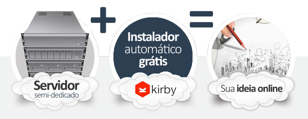 hospedagem Kirby CMS
