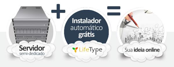 hospedagem LifeType Blog