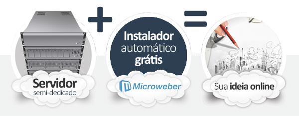 hospedagem Microweber CMS