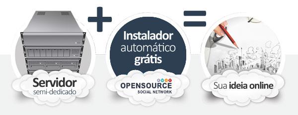 hospedagem Open Source Social Network