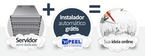 hospedagem PEEL Shopping E-commerce