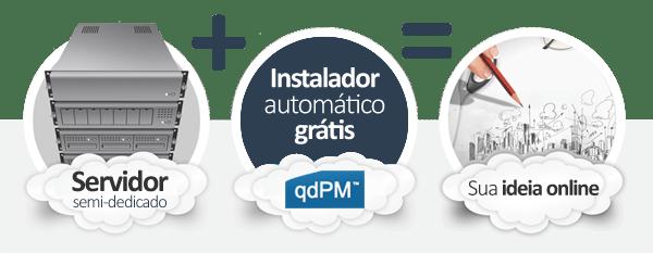 hospedagem qdPM Project Manager