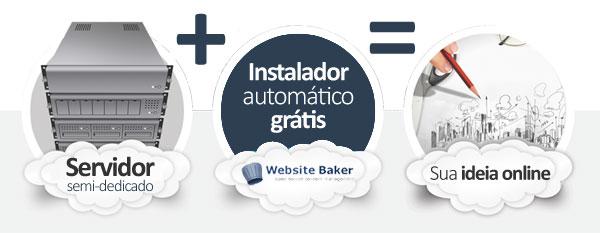 hospedagem WebsiteBaker