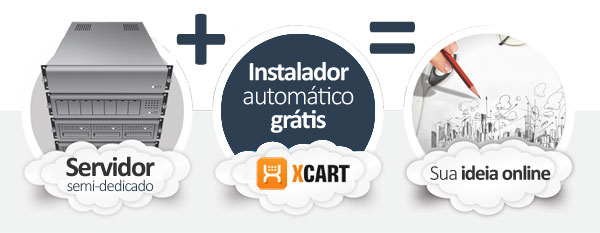 hospedagem X-Cart E-commerce